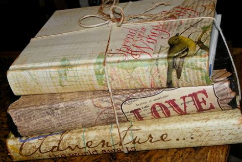 Decoupage Book Cover - weekend condo project go vintage chic with 14 decoupage ideas