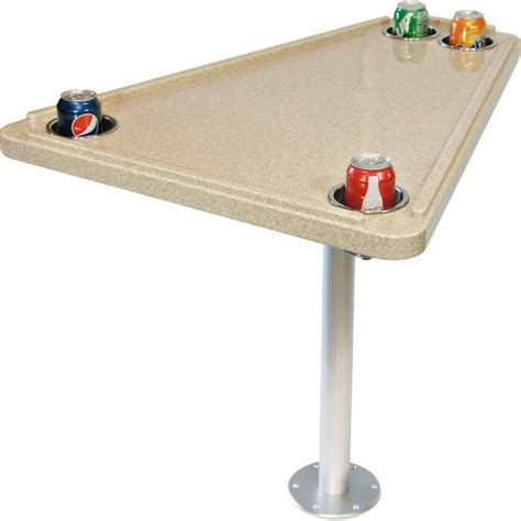 marine tables for boats corian bow table with base