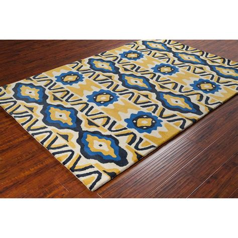 and yellow rug stella collection tufted area rug in yellow blue design burke decor