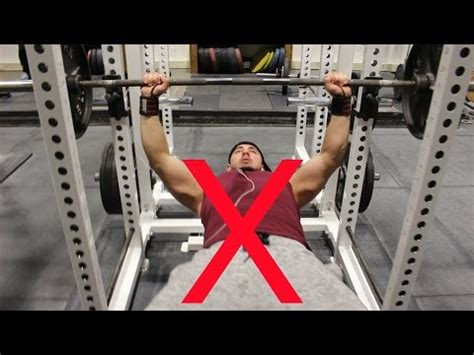bench press injury how to bench press correctly stop half repping prevent