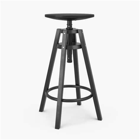 industrial bar stools ikea 3d model ikea dalfred bar stool