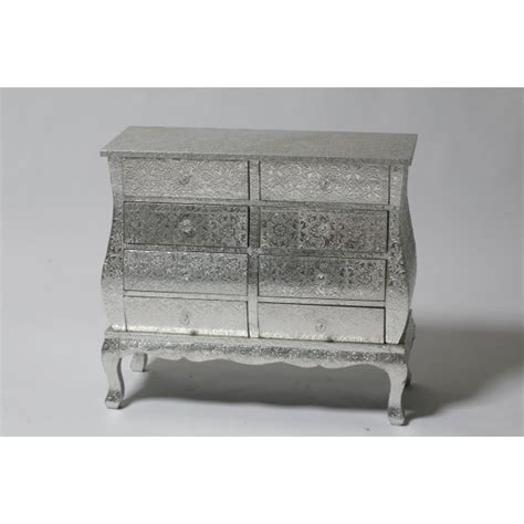 Silver Embossed Chest Of Drawers by Silver Embossed Eight Drawer Chest Of Drawers