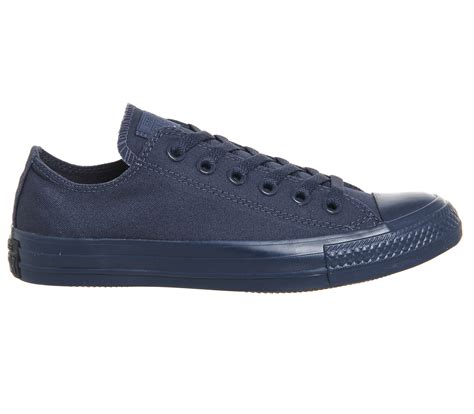 St Low Navy converse converse all low navy mono st unisex sports