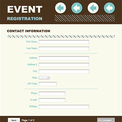 best photos of for conference registration form template