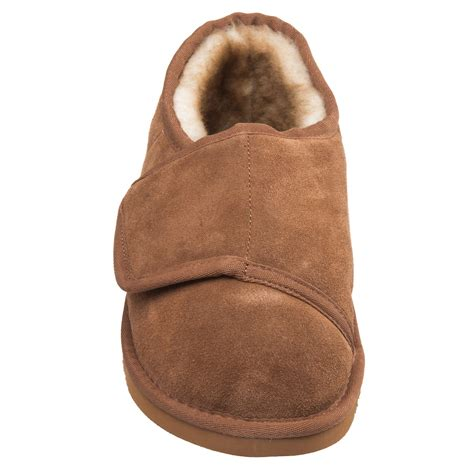 lamo sheepskin slippers lamo sheepskin bootie wrap slipper s suede free ship