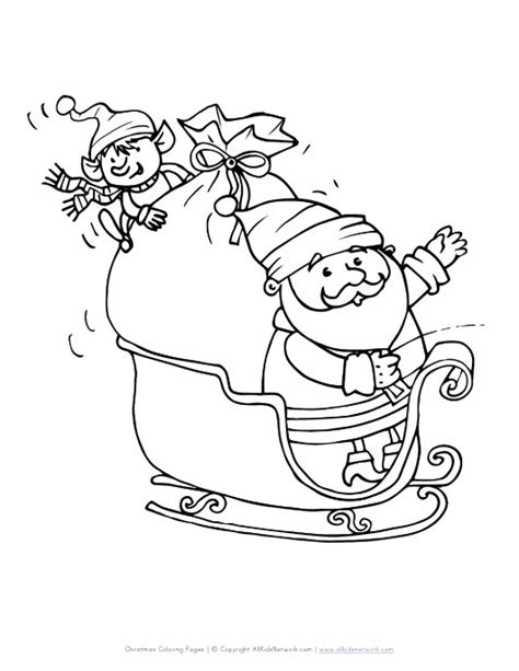 coloring pages of santa and his sleigh sleigh coloring page coloring pages