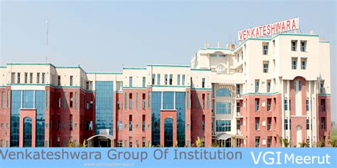 Mba Colleges In Ghaziabad With Fee Structure by Venkateshwara Of Institution Vgi Meerut Mba Fees