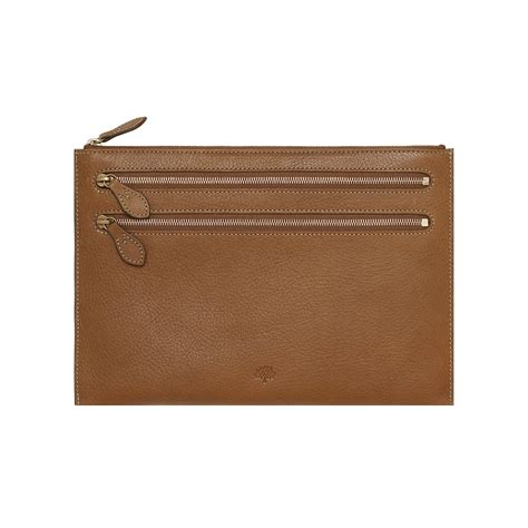 Mulberry Pouch lyst mulberry multizip pouch in brown