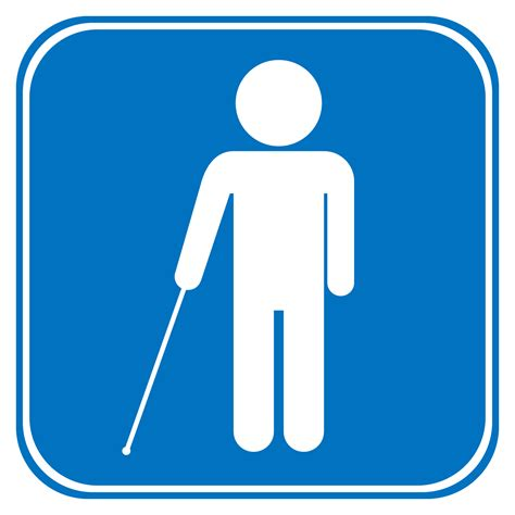 Blind People Stick White Cane Safety Day