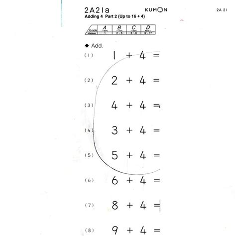 Printable Kumon Worksheets by 7 Best Kumon Images On School Exercise And