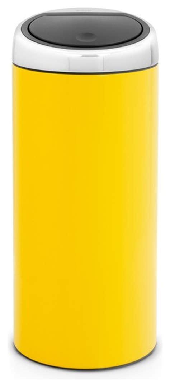 yellow kitchen trash can brabantia touch bin 174 8 gallon lemon yellow modern