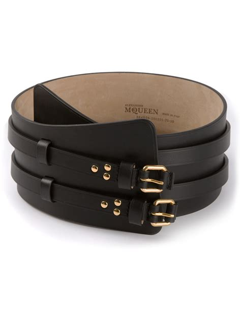 mcqueen buckle wide belt in black