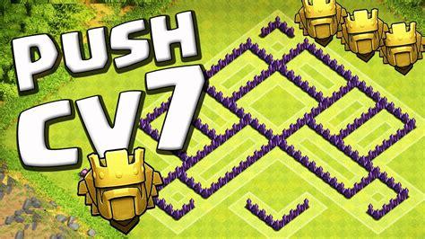 layout cv 7 farming youtube layout cv7 push tit 195 clash of clans youtube