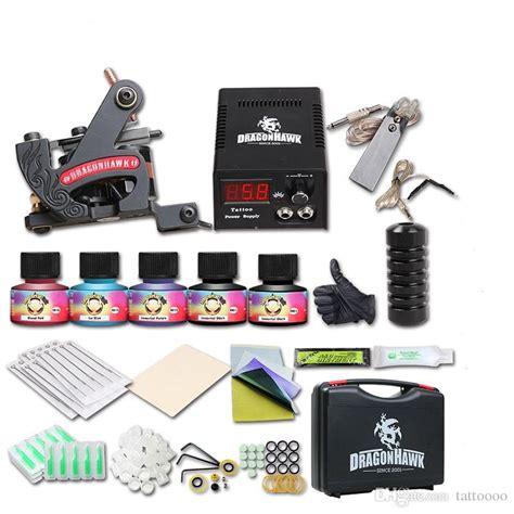 tattoo kits dhgate beginner tattoo kits 1 coils machine guns 5 inks power