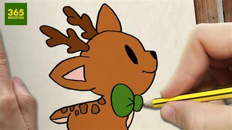 imágenes de navidad kawaii como dibujar un ciervo para navidad paso a paso dibujos
