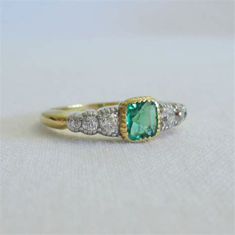 antique emerald and engagement ring beautiful ring