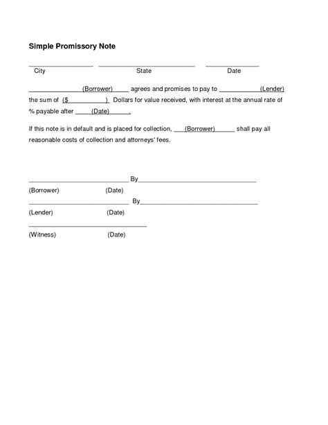 Note Payable Template doc 9001165 doc575709 note payable form note payable