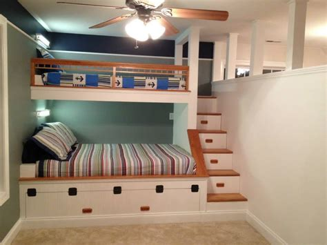 Custom Built In Bunk Beds With Partition Wall Yelp Customized Bunk Beds