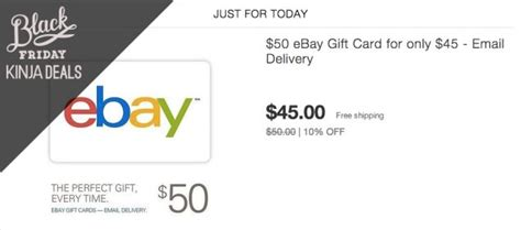 50 Ebay Gift Card For 45 - prep for cyber monday with this discounted ebay gift card