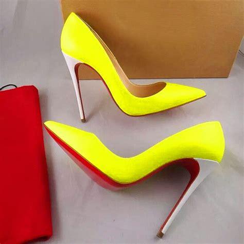 cheap yellow high heels cheap neon heels qu heel