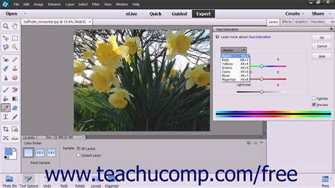 tutorial adobe photoshop elements 13 photoshop elements 13 tutorial hue saturation adobe
