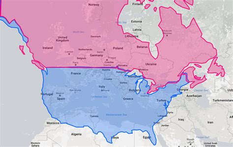 map of canada and the united states map the united states and canada at the same latitudes as