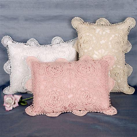 Crochet Pillow by Crocheted Rectangle Accent Pillows