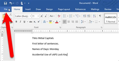 Letter Capital In Word how to disable automatic capitalization correction in