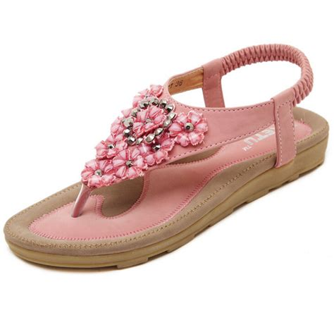pictures of sandals 2016 summer style flowers rhinestones sandals open