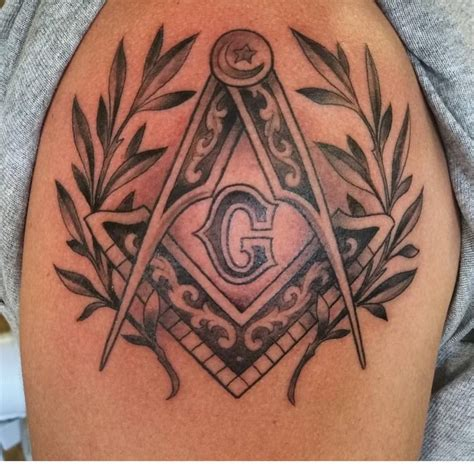 masonic tattoos beautiful square and compasses by brian garten