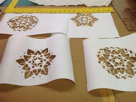 How To Make Stencils Out Of Paper - lasercut freezer paper stencils todos portugu 234 s
