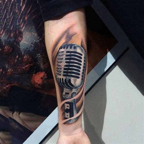 tattoo de microphone 90 microphone tattoo designs for men manly vocal ink