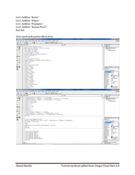 tutorial membuat aplikasi dengan ci tutorial membuat aplikasi kasir dengan vb 6 0