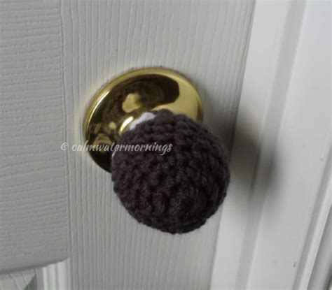 Toddler Proof Door Knob Covers by 4 Crochet Child Proof Door Knob Covers Charcoal