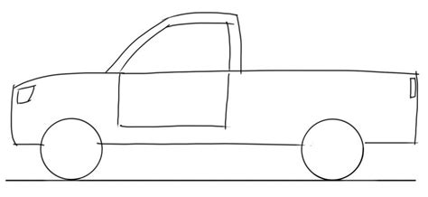 car drawing tutorial up truck side view junior car