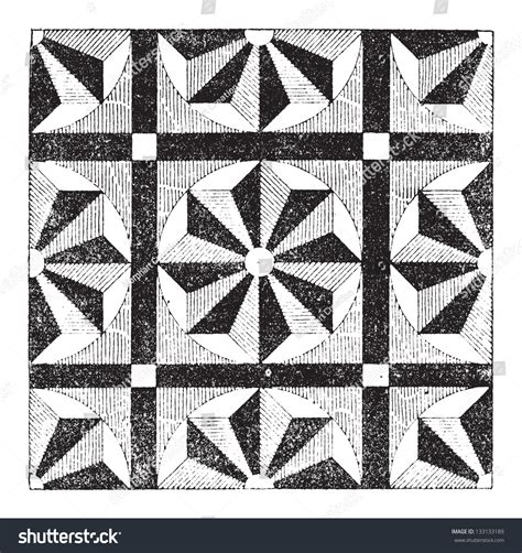 design pattern dictionary mosaic showing repeating pattern or design vintage