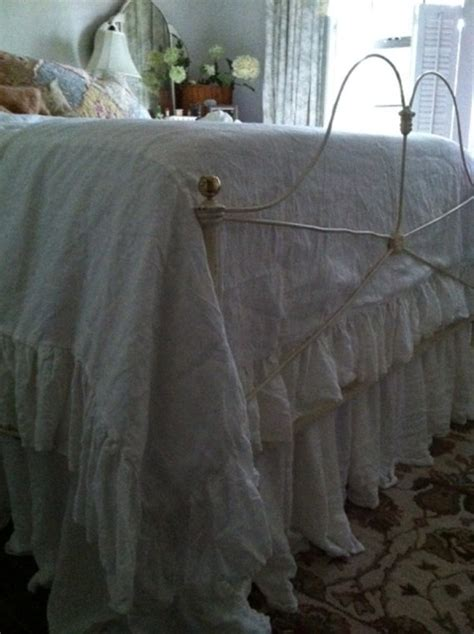 washed linen bedding washed linen ruffled duvetfull bed size ruffled linen