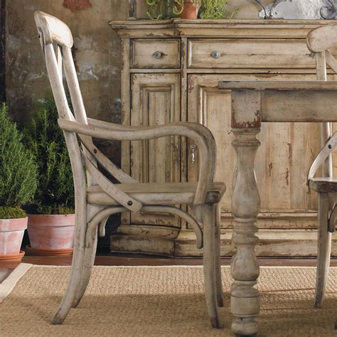 Hooker Furniture Wakefield X Back Distressed White Dining Distressed White Dining Chairs