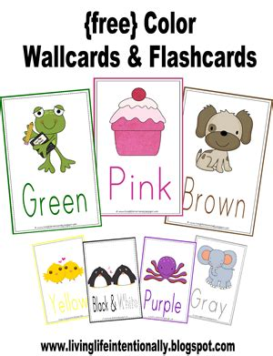 printable flashcards for toddlers colors free color wallcards flashcards