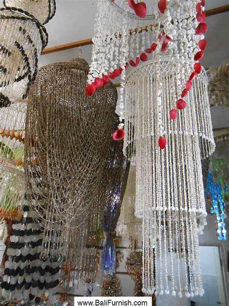 Hanging Spiral Chandeliers Indonesia Shell Chandelier Bali