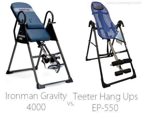 teeter hang ups ep 550 inversion table review
