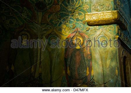 Watt Of The Interior by Watts Chapel And Cemetery Compton Surrey Stock Photo Royalty Free Image 85769726