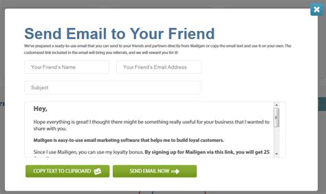 refer a friend email template recommend mailigen and get rewarded email marketing