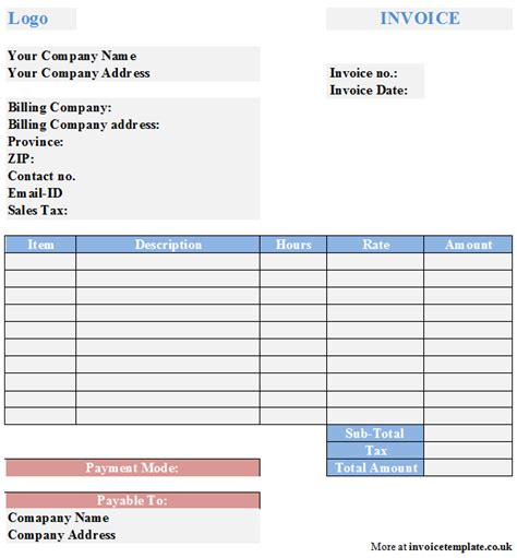 business invoice template free sample business invoice