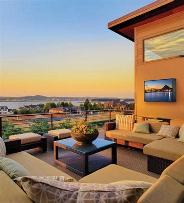architectural digest home design show march 21 24 2014 peerless av 174 almo 174 showcase uv2tm outdoor tv at