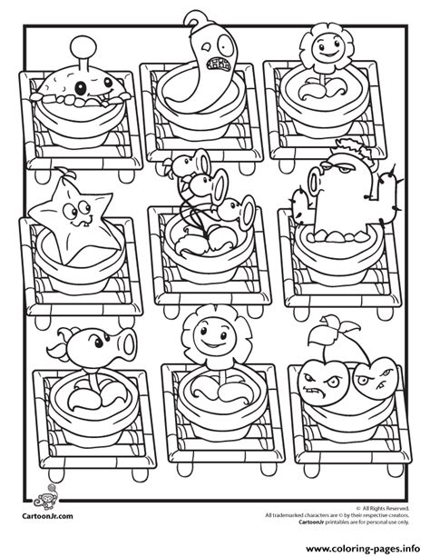 coloring book vs views characters plants vs zombies coloring pages printable