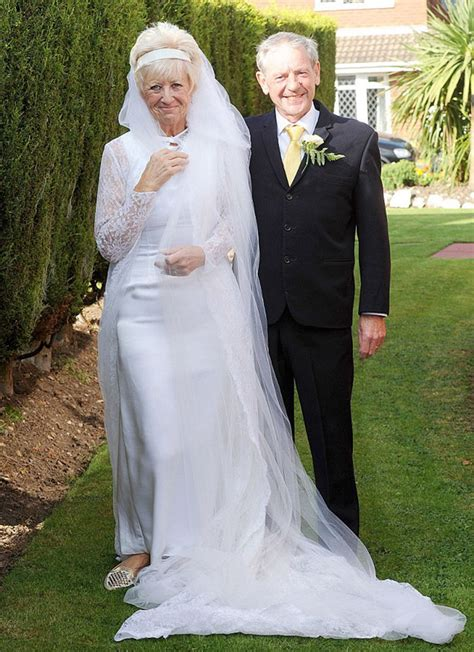 Wedding Attire For 50 Year celebrates 50 years of by wearing same wedding