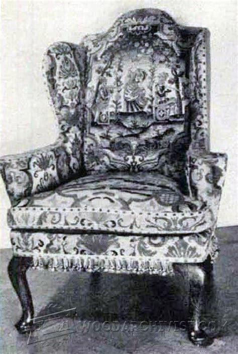 georgian wing chair plans woodarchivist