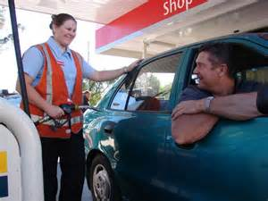 service returns to petrol station abc central