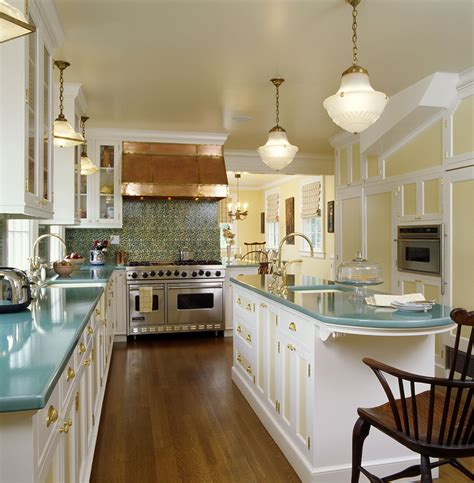 small long kitchen ideas splashy schoolhouse lighting vogue new york traditional